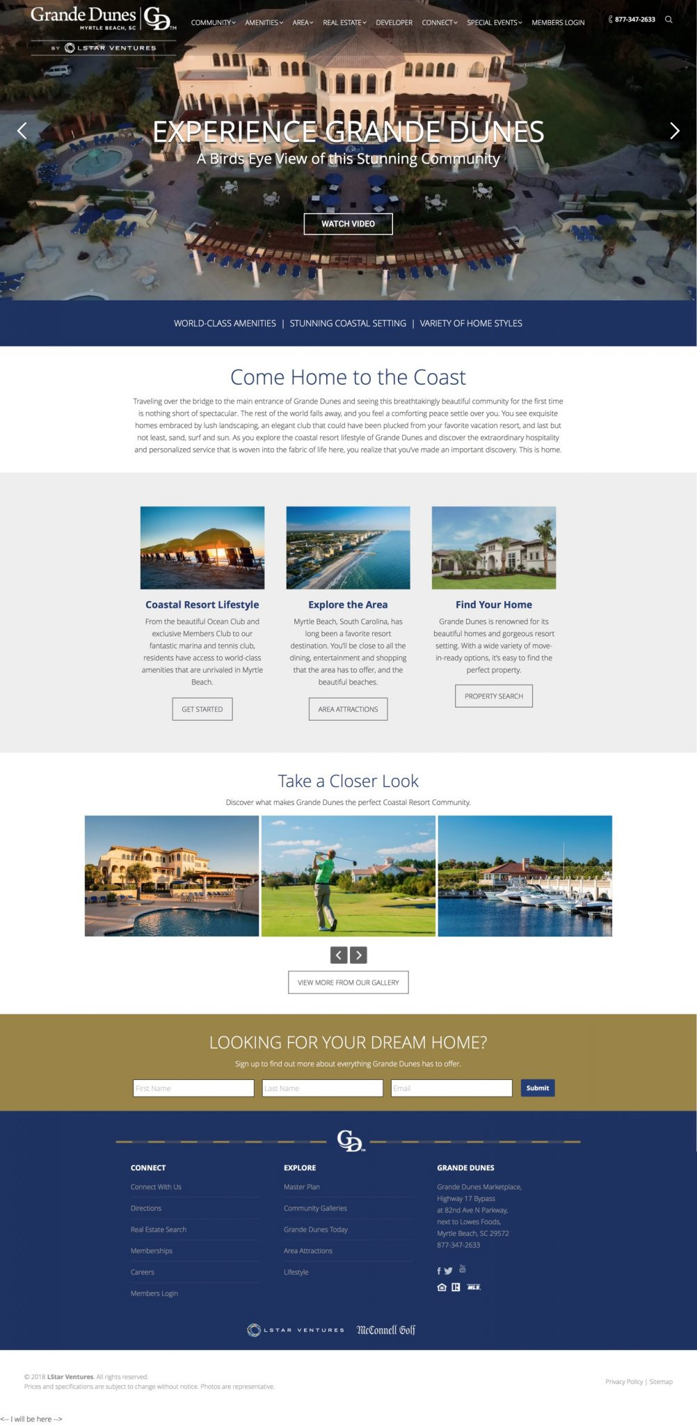 Explore the coastal resort lifestyle of Grande Dunes in Myrtle Beach, SC and discover the beautiful homes and world-class amenities unrivaled in this area.