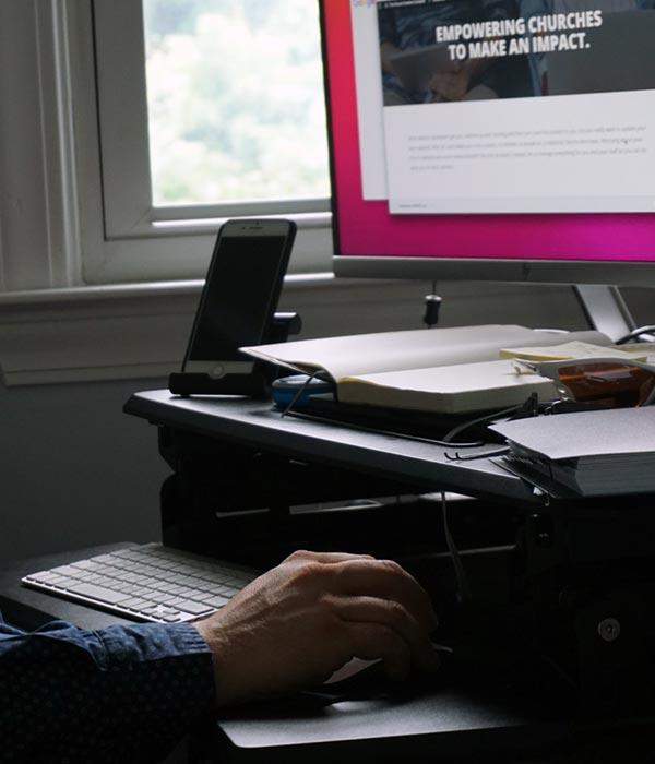 Tony Shaw Freelance Web Designer Working on Client Website